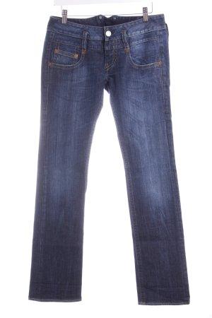 Herrlicher Jeans taille basse bleu foncé style décontracté
