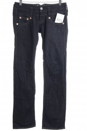 Herrlicher Low Rise jeans donkerblauw Jeans-look