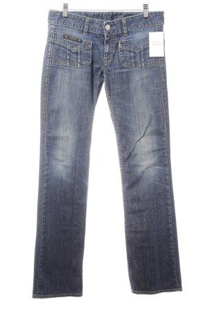 Herrlicher Low Rise jeans donkerblauw-staalblauw casual uitstraling
