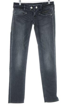 Herrlicher Jeans taille basse gris foncé style mode des rues