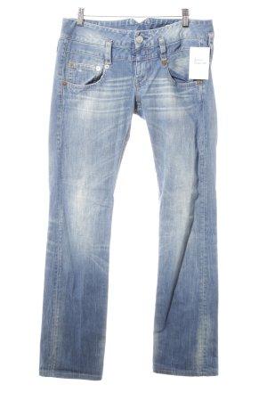 Herrlicher Low Rise jeans korenblauw-azuur casual uitstraling
