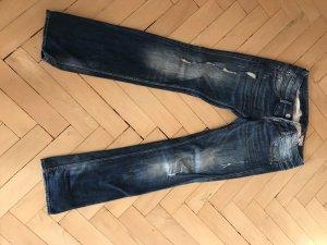 Herrlicher Jeans taille basse bleu foncé