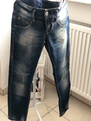 Herrlicher Jeans taille basse bleu azur