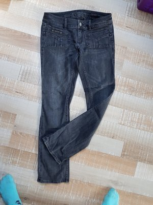 Herrlicher Jeans Hose Lou 30/32 W30 grau