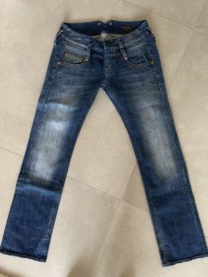 Herrlicher Jeans met rechte pijpen blauw