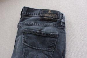 Herrlicher Pantalon cigarette gris foncé coton