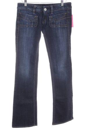 Herrlicher Jeansschlaghose dunkelblau Casual-Look