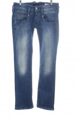 Herrlicher Denim Flares steel blue-white casual look