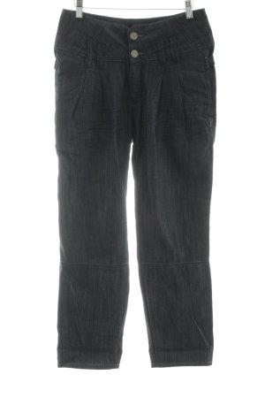 Herrlicher Jeans carotte gris ardoise-bleu style décontracté