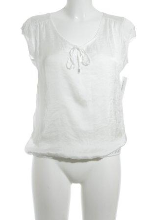 Herrlicher Kurzarm-Bluse weiß Elegant