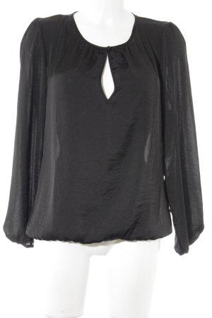 Herrlicher Langarm-Bluse schwarz Casual-Look