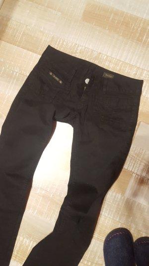 Herrlicher Lou Stoff Hose Jeans Schwarz W28 28/34