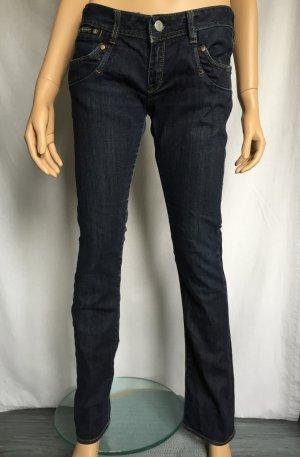 Herrlicher Piper Slim Jeans Gr. 29/32 Dunkelblau Jeanshose Hose stone washed