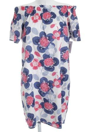 Herrlicher schulterfreies Kleid florales Muster Casual-Look