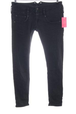 Herrlicher Skinny Jeans schwarz Casual-Look