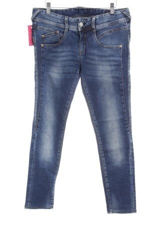 Herrlicher Skinny Jeans neonblau Jeans-Optik