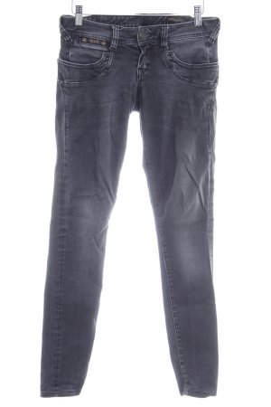 Herrlicher Skinny Jeans anthrazit Casual-Look