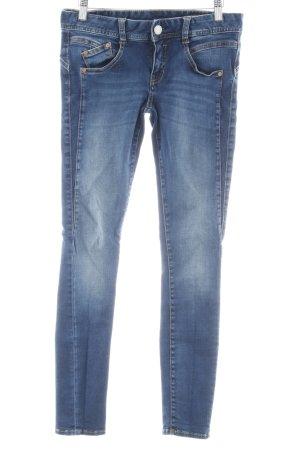 Herrlicher Skinny Jeans blau Jeans-Optik