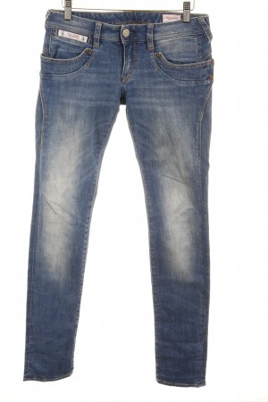 Herrlicher Skinny Jeans dunkelblau Washed-Optik