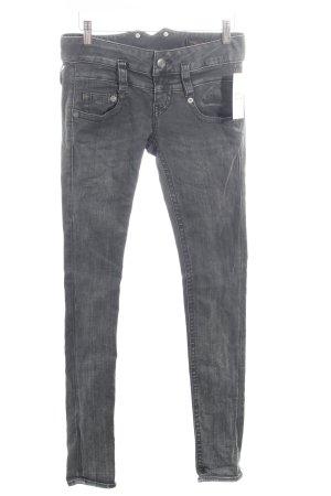Herrlicher Skinny Jeans dunkelgrau schlichter Stil