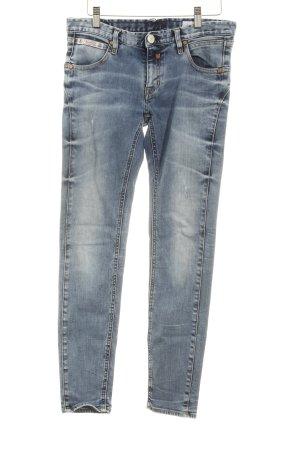 Herrlicher Skinny Jeans graublau-blassblau Used-Optik