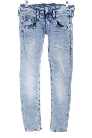 Herrlicher Skinny Jeans himmelblau Used-Optik