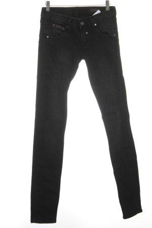 Herrlicher Skinny Jeans schwarz-grau Washed-Optik