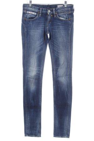 Herrlicher Skinny Jeans stahlblau Jeans-Optik