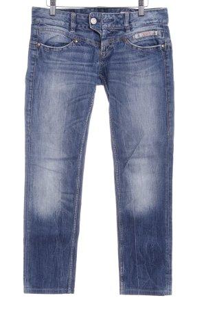 Herrlicher Skinny Jeans stahlblau-kornblumenblau Casual-Look