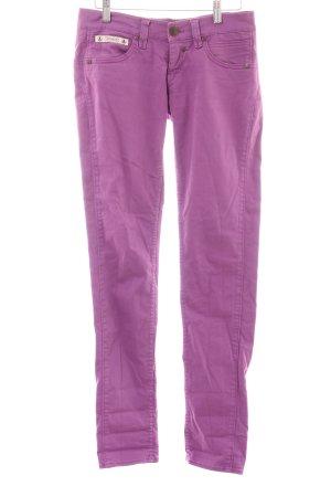 Herrlicher Skinny Jeans violett Casual-Look