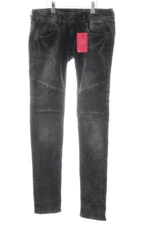 Herrlicher Slim Jeans schwarz-hellgrau Casual-Look