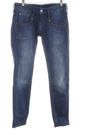 Herrlicher Jeans slim bleu fluo style décontracté