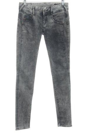 Herrlicher Slim Jeans anthrazit-graubraun Used-Optik