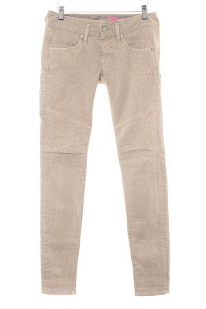 Herrlicher Slim Jeans beige Biker-Look