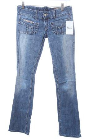 Herrlicher Slim Jeans blau-blassblau Used-Optik