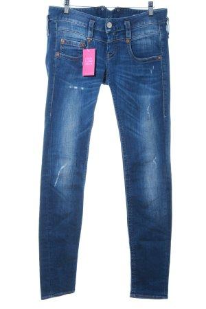 Herrlicher Slim Jeans blau Destroy-Optik