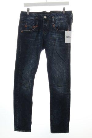 Herrlicher Slim Jeans blau-wollweiß Casual-Look