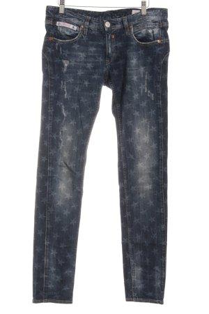Herrlicher Slim Jeans dunkelblau Allover-Druck Casual-Look