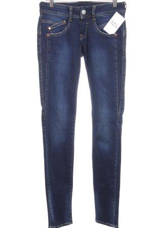 Herrlicher Slim Jeans dunkelblau College-Look