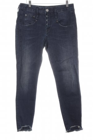 Herrlicher Slim Jeans dunkelblau Destroy-Optik