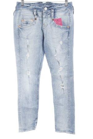 Herrlicher Slim Jeans hellblau Washed-Optik