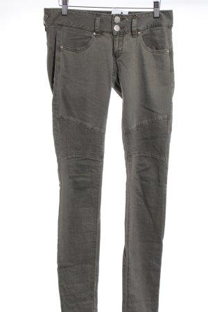 Herrlicher Slim Jeans khaki Biker-Look