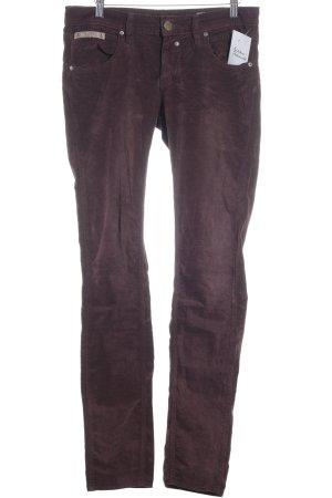 Herrlicher Slim Jeans purpur Samt-Optik