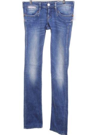 Herrlicher Slim Jeans stahlblau-blassblau Casual-Look