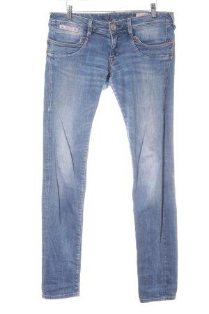 Herrlicher Jeans slim bleu acier style décontracté