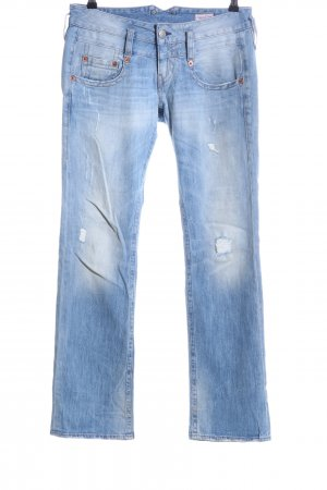 Herrlicher Straight-Leg Jeans blau Casual-Look