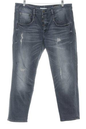 Herrlicher Straight-Leg Jeans blassblau-dunkelgrau Used-Optik