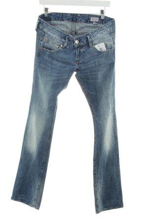 Herrlicher Straight-Leg Jeans blau Bleached-Optik