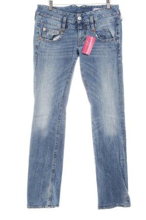 Herrlicher Straight-Leg Jeans blau Farbverlauf Casual-Look