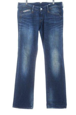 Herrlicher Straight-Leg Jeans blau Washed-Optik